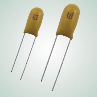 Epoxy-Coated Solid Electrolyte Tanlaum Capacitor