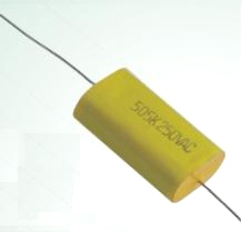 Metallized Polypropylene Film Capacitor (axial and oval)